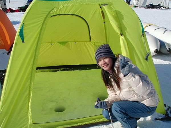阿寒湖冰上垂釣