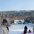 飯店外的滑雪場
