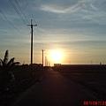 嘉南平原的夕陽