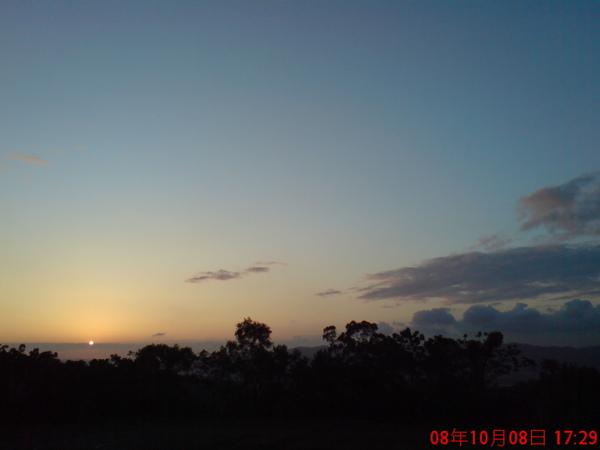 山中湖夕陽