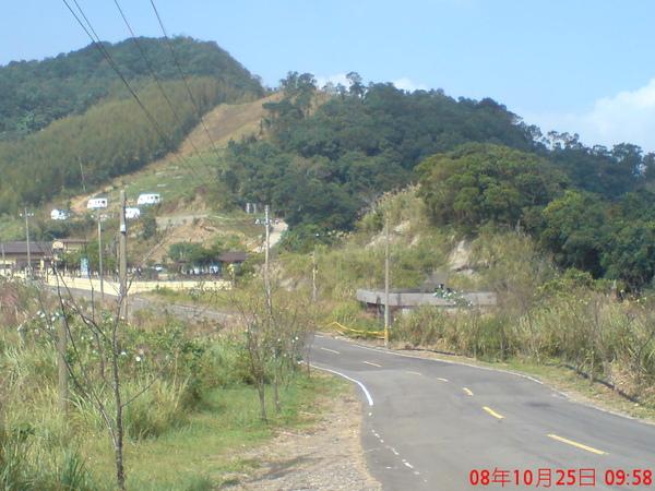 東眼山入口前2km