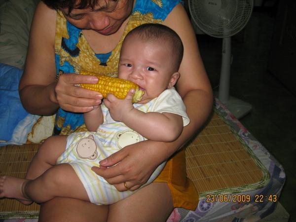 玉米有點苦