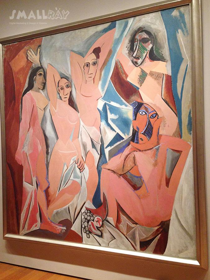 MoMA現代藝術博物館-畢卡索-亞維農的少女