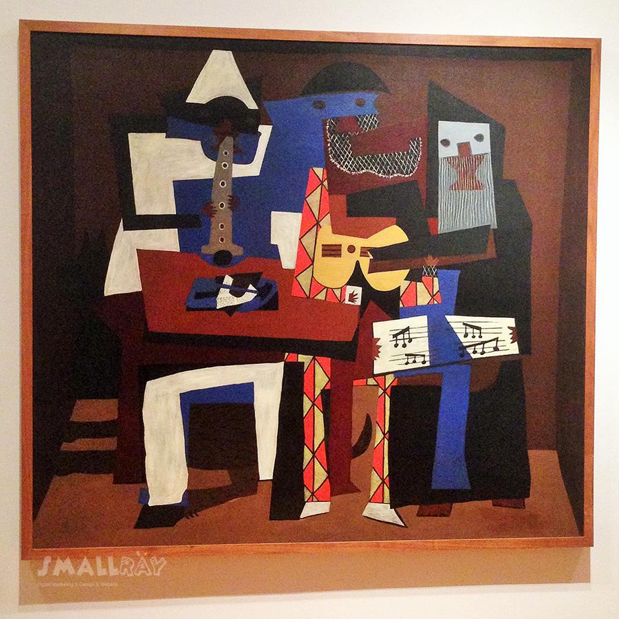 MoMA現代藝術博物館-畢卡索-三個音樂家