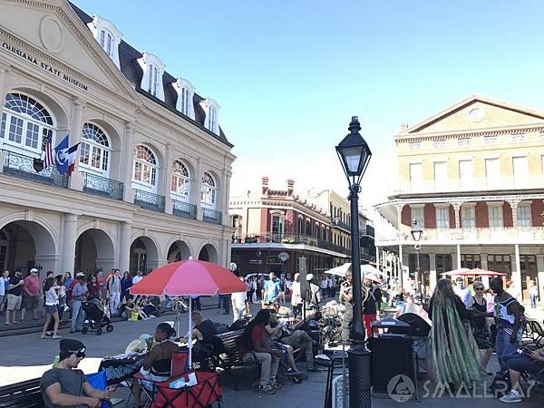 美國紐奧良行程推薦,紐奧良法國區傑克遜廣場Jackson Square,紐奧良街頭爵士樂表演,紐奧良必去景點推薦