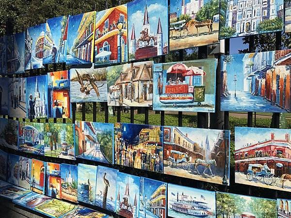 美國紐奧良行程推薦,紐奧良法國區傑克遜廣場Jackson Square,紐奧良藝術市集,紐奧良必去景點推薦