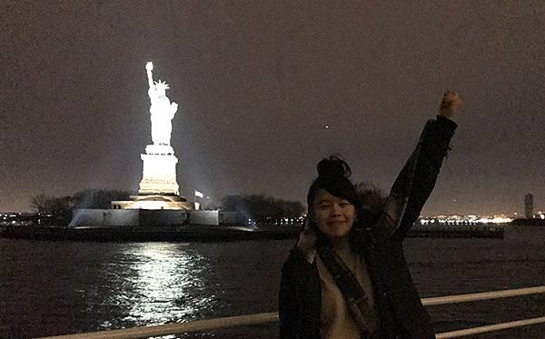 紐約搭船看曼哈頓天際線-自由女神夜景-紐約行程推薦-紐約必去紐約必做