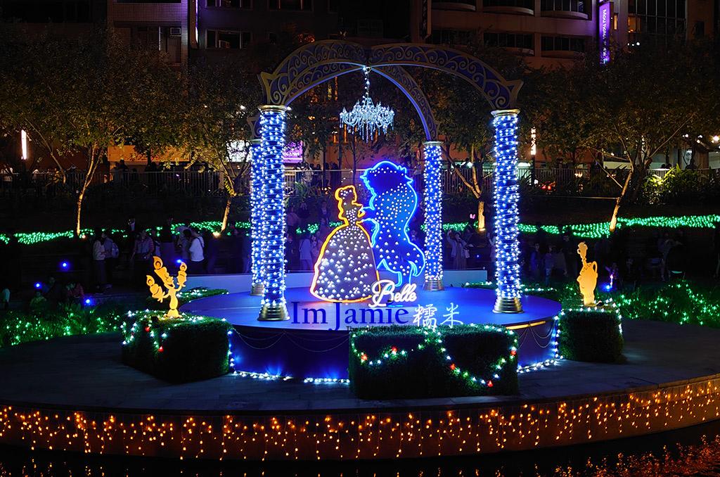 耶誕夢想世界綠川柳川燈會,水岸步道.jpg