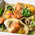 南瓜時蔬鮮菇燉食穀米飯