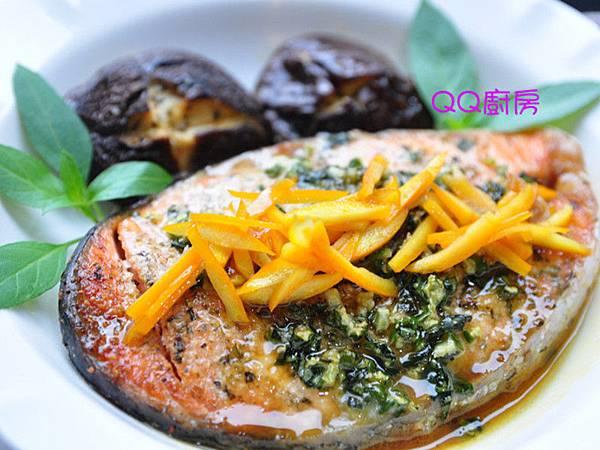 橙香義式香料烤鮭魚