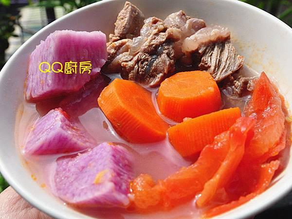 紫山藥時蔬燉牛肉