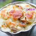 焗烤奶油菇菇白菜