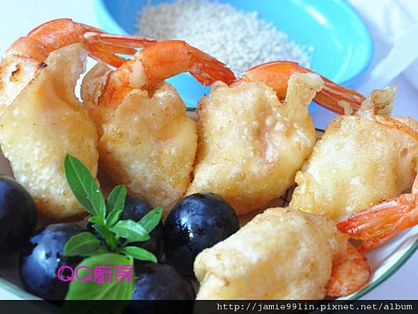 香酥餛飩沙拉蝦