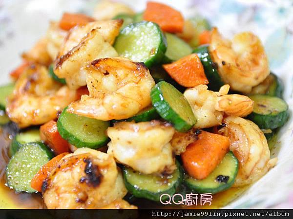醬燒蝦仁黃瓜片