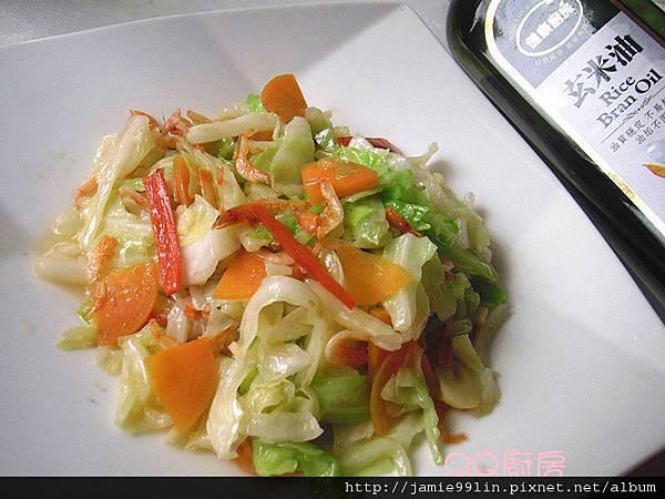 櫻花蝦炒高麗菜