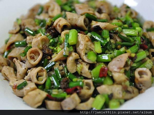 辣醬韭菜炒豬腸