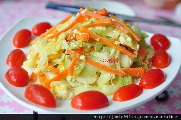 鹹蛋炒高麗菜