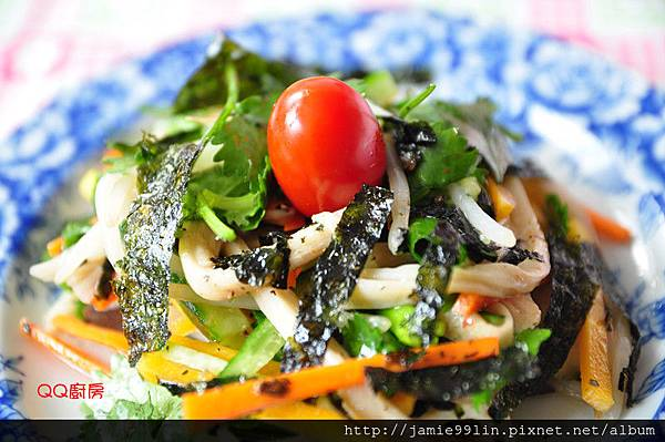 海苔蕈絲和風時蔬