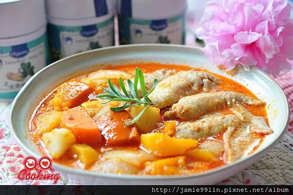 叻沙南瓜燉雞