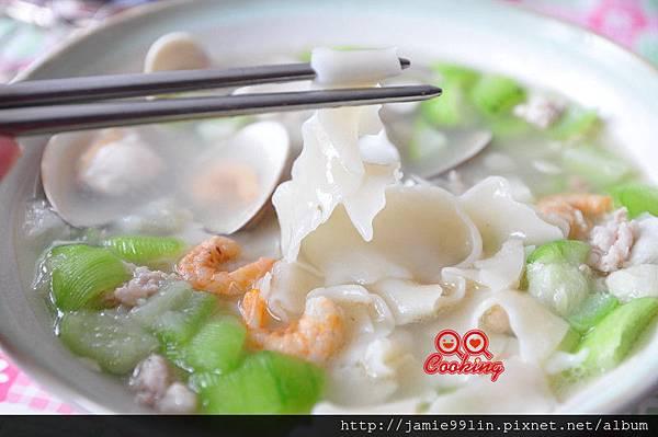 絲瓜蛤蜊麵片兒湯