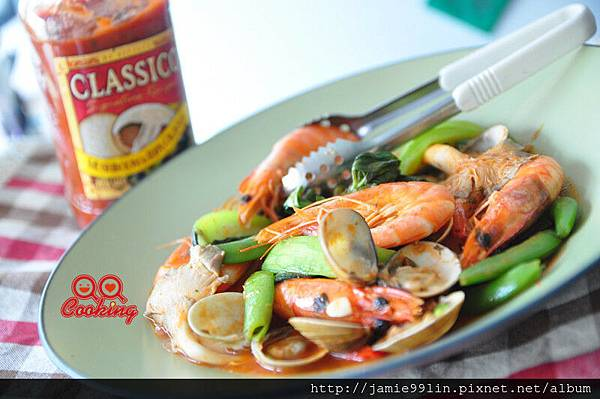 橄欖磨菇醬拌海味