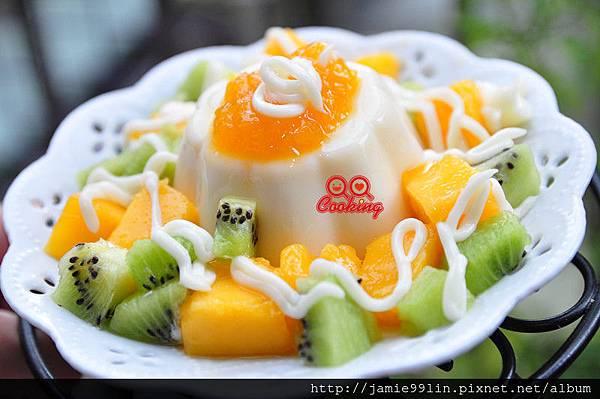 果丁芙蓉豆漿凍