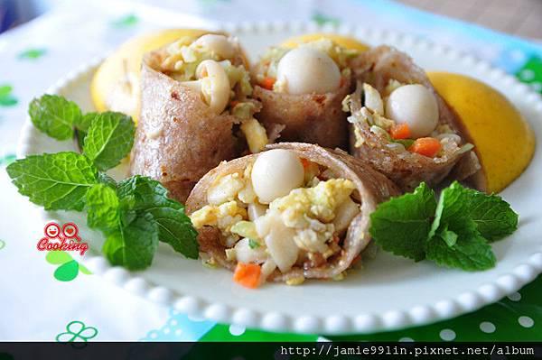 鮮蔬菇菇蛋餅捲