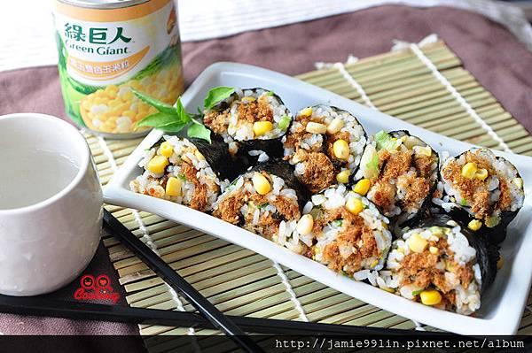 帆立貝玉米粒壽司