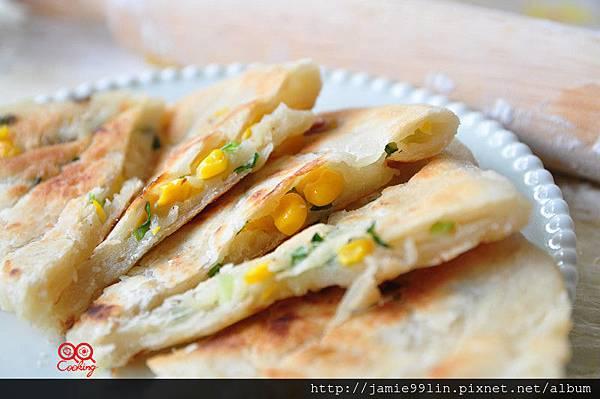 玉米蔥油餅