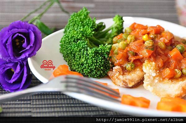 茄汁奶香洋蔥燴魚片