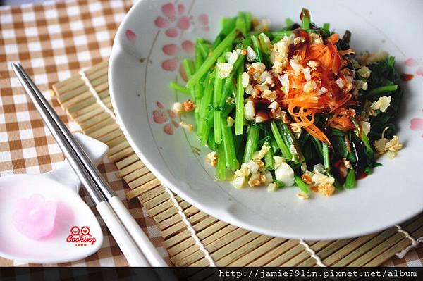 油煸蒜香菠菜
