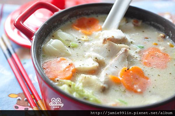 白菜鯛魚燉奶鍋