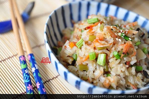 浪漫暖春蘆筍櫻花蝦蘆筍炊飯