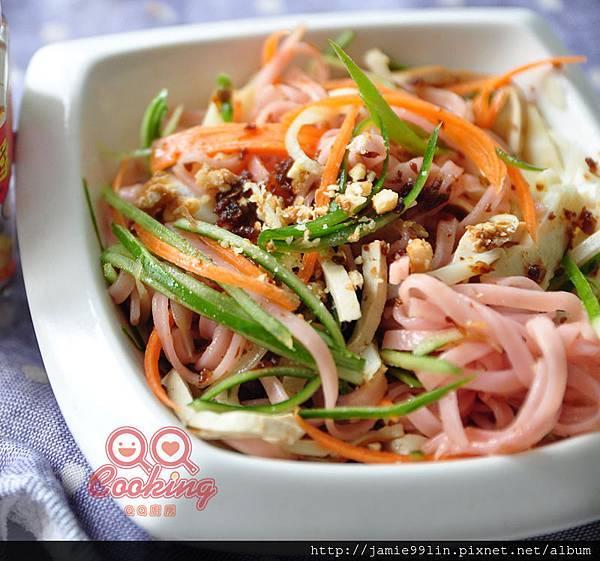鮮蔬拌醬梅香麵
