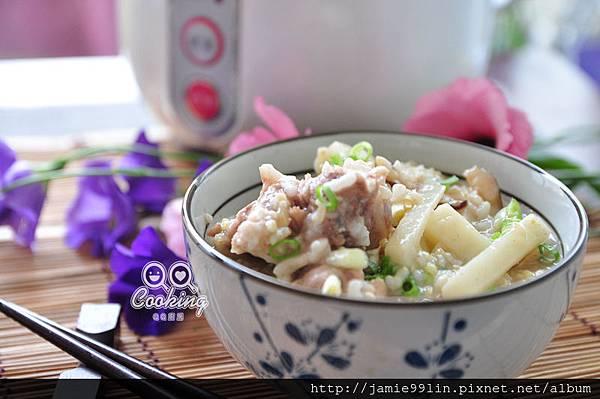 鮮筍香菇排骨養生粥