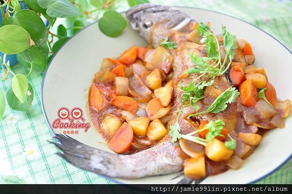 咖哩燴紅花斑魚