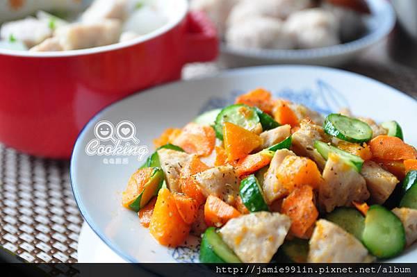 鮮蔬炒原味貢丸 & 冬瓜鴨胗荸薺丸湯【巧口手工貢丸】