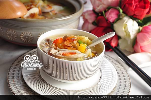 櫻花蝦蕈菇煨白菜