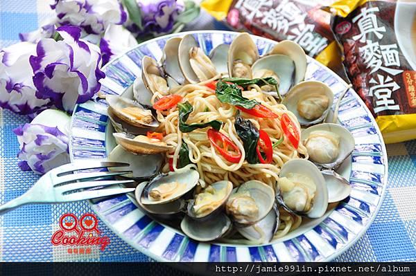 塔香蛤蜊炒麵