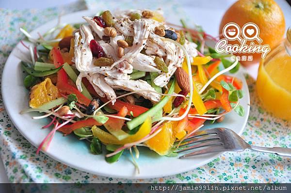 橙汁彩椒雞肉沙拉