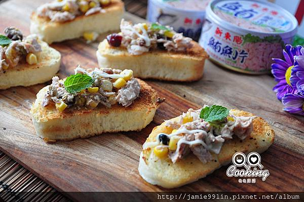 鮪魚沙拉饅頭脆餅