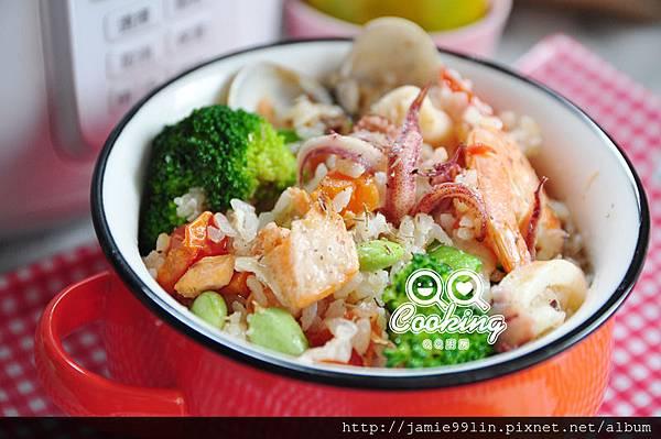 白酒海鮮燉飯