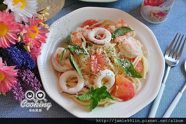 海鮮義大利冷麵