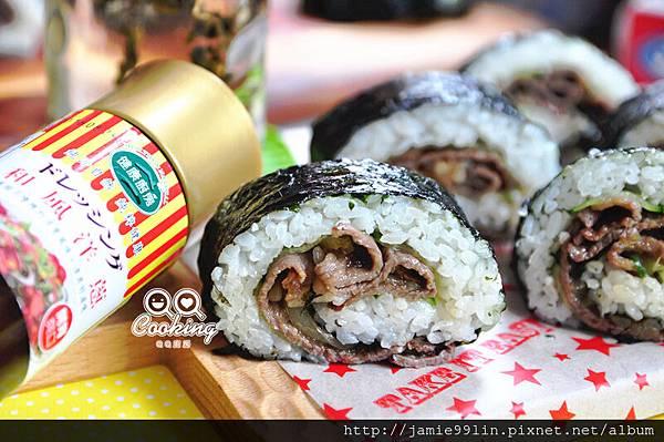日式和風燒肉海苔飯捲