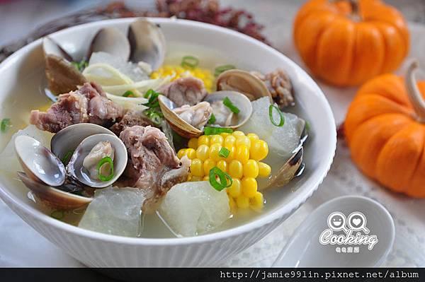 蒜香蛤蜊冬瓜排骨湯