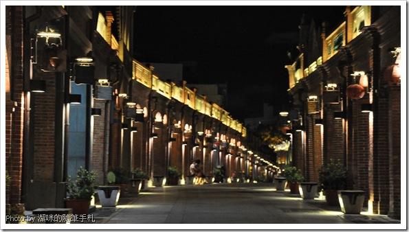 夜晚的三峽老街