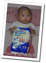 滿三個月的璇璇試用滿意寶寶尿布