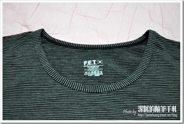 FET 重發熱衣之尺寸標示