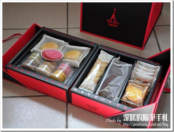 金革法式馬卡龍彌月禮盒之內容物