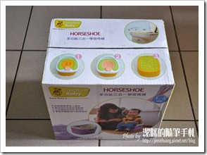 Creative Baby 多功能三合一學習馬桶之紙盒包裝上面